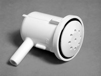 "Dynasty Spa Air Injector, Top-Flo Ell, 3/8"" Barb, 1 1/8"" Hole, Black, 10496"