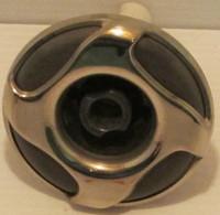 """3"""" Dynasty Spa Jet, Mini Stom, Threaded, Directional, Mtl/Gry, 4 Swirl, 2013, 14879"""