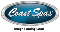 """3-3/8"""" Coast Spas Jet, Poly Storm, Directional, 6 Spoke, Gray W/ Stainless, 212-8599S-DSG-X"""
