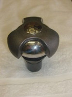"""1"""" Coast Spas Air Control, Cap Only, Tri Lever, Complete, 2005, Dk Gray W/ Stainless, CC6603509-GMSSx"""