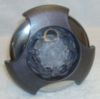 "5"" Coast Spas Jet, Power Storm, Threaded, Massage, LED, Tri Lever, Dk Gray W/ Stainless, CC2297829FGMSSx"