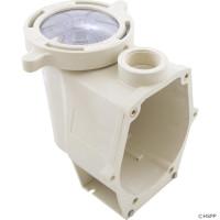Trap/Pump Body, Pentair Purex IntelliFlo VF/VS White