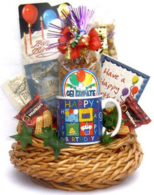 Birthday Bash In A Gift Basket