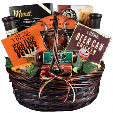 The ultimate grilling gift basket is here! Know someone who enjoys a good grill gift for just about any reason? Show dad (or husband) he is King Of The Grill with this great grill themed gift basket for him.