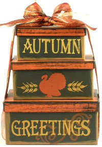 Autumn Greetings - Fall Gift Tower