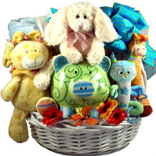 Cuddle Zoo, New Baby Gift Basket