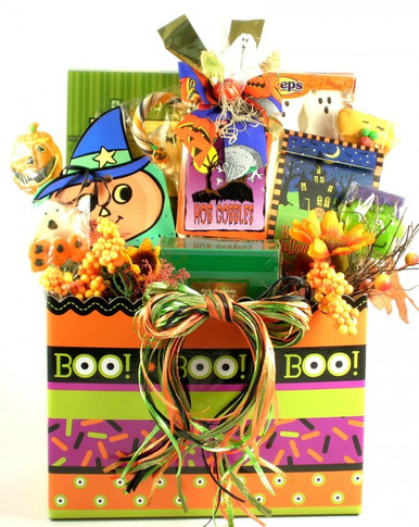 This gem of a gift basket offers ghostly goodies galore, in a gorgeous gift arrangement that they are sure to adore!