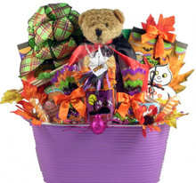Know someone who loves Halloween? This spirited Halloween gift basket is sure to thrill anyone who loves this holiday