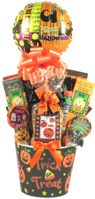 What a treat, Halloween sweets and treats in a wonderful arrangement delivered right to them! They won't even have to dress up and go door-to-door to get these goodies!