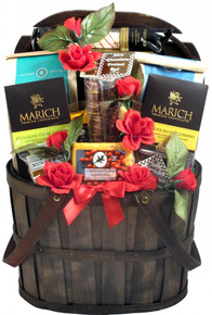 This new Valentine's Gift Basket is a favorite around here! It is simply a gorgeous gift basket filled with a host of scrumptious and hard to find gourmet treats for Valentine's Day! Send it to that special someone you want to spend Valentine's day with.