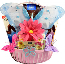 Butterflies And Blooms Basket