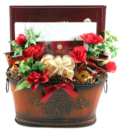 Help to celebrate their big day with this big and beautiful basket filled with a whole host of delicious gourmet snacks, sweets and gifts!