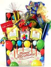 Help to make their special day even more special by sending this vibrant gift basket piled high with a large selection of delicious treats for them to enjoy on their Birthday! What a great way to celebrate!