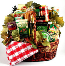 This absolutely stunning gift basket features a massive collection of the finest Italian gourmet gifts available. They will be thinking of your generosity for a long time to come while enjoying this abundant selection of rich sauces, imported oils, assorted handmade pastas, artisan bread sticks, delicate Italian cookies and so on! This gift is one gift that keeps on giving.