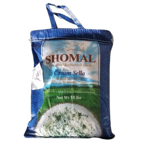 10 lb Basmati Rice, Cream Sella, Blue - Shomal