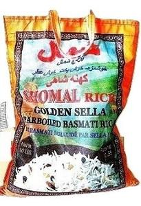 10 lb Parboiled Golden Sella Basmati Rice, Orange - Shomal