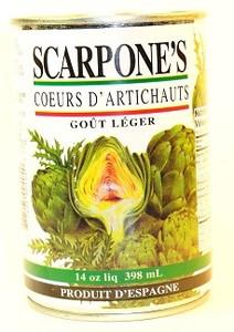 Artichoke Hearts 14 oz (400 gr)-SCARPONE'S