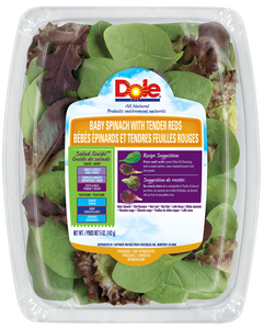 Baby Spinach with Tender Reds -  5 oz.(142 g) Dole