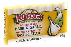 Basil & Garlic Bouillon (66 gr) - AURORA