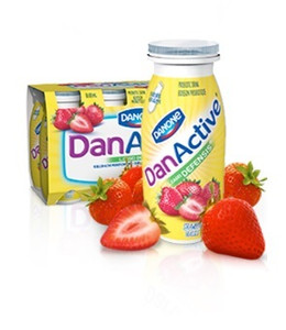 DANACTIVE STRAWBERRY AND BANANA - 8x93 ml- DANONE