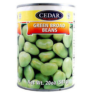 Green Broad Beans 540ml - Cedar