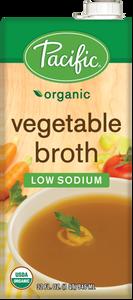 Organic Vegetable Broth Low Sodium - Gluten Free  (1 L) - Pacific