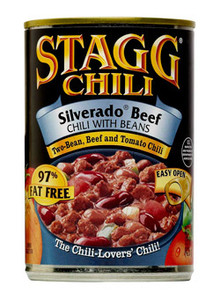 Silverado Beef Chili With Beans, 97% Fat Free, Gluten Free (425 g) - STAGG CHILI