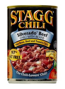 Silverado Beef Chili With Beans, 97% Fat Free, Gluten Free (425 g) - STAGG CHILI