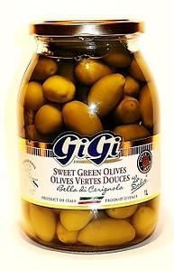 Sweet Green Olives 1L - GIGI