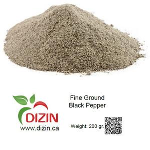 Fine Ground Black Pepper 200 gr