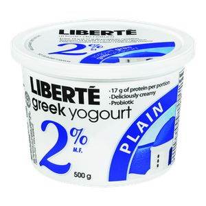 Greek Yogurt Plain 2% - 500 gr - Liberté