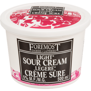 Sour Cream, Light (500mL) - FOREMOST