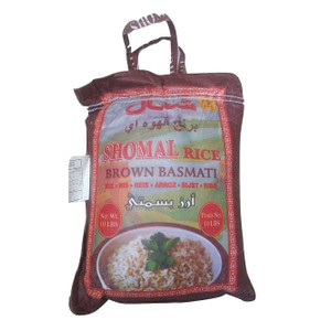 10 lb Brown Basmati Rice, Brown Bag - Shomal