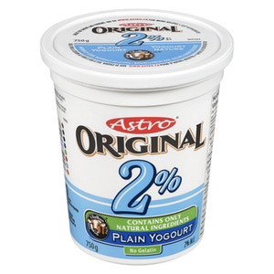 Original Balkan Style Yogurt, Plain 2% (750 g) - Astro