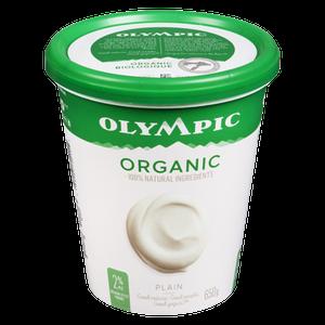 Organic Yogurt, Plain 2% (650 g) - OLYMPIC
