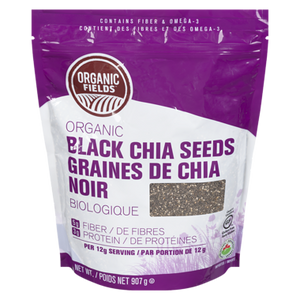 Organic Fields Black Chia Seeds (907 g)
