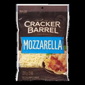 Cracker Barrel Shredded Cheese, Mozzarella (320 g) - Kraft