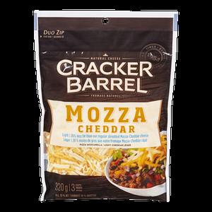 Cracker Barrel Shredded Mozzarella & Cheddar, Light (320 g) - Kraft