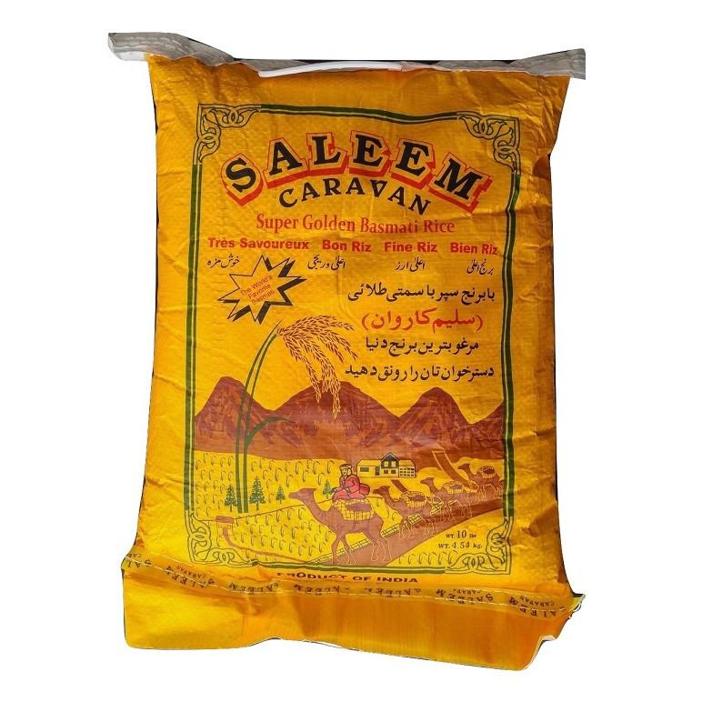 10 lb Parboiled Golden Sella Basmati Rice - Saleem Caravan