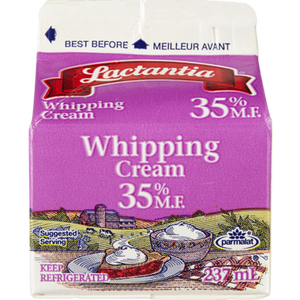 Whipping Cream, 35% (237 mL) - LACTANTIA