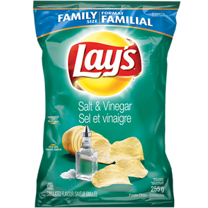 Potato Chips, Salt & Vinegar (255 g) - LAY'S