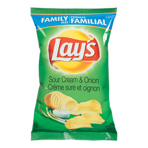 Potato Chips, Sour Cream & Onion (255 g) - LAY'S