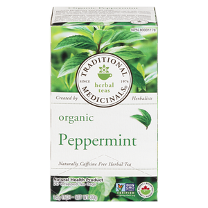 Organic Peppermint Herbal Tea (20 ea) - TRADITIONAL MEDICINALS