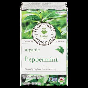 Organic Peppermint Herbal Tea (20 ea) - TRADITIONAL MEDICINALS