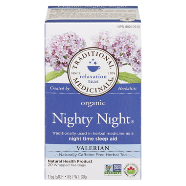 ... Organic Nighty Night Valerian Tea (20 ea) - TRADITIONAL MEDICINALS.  Image 1. Loading zoom 98b3b9903