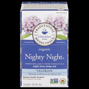 Organic Nighty Night Valerian Tea (20 ea) - TRADITIONAL MEDICINALS