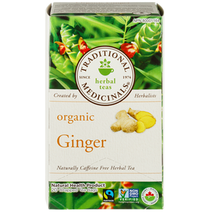 Organic Ginger Herbal Tea (20 ea) - TRADITIONAL MEDICINALS