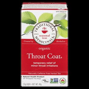 Organic Throat Coat Tea (20 ea) - TRADITIONAL MEDICINALS