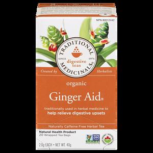 Organic Ginger Aid Herbal Tea (20 ea) - TRADITIONAL MEDICINALS