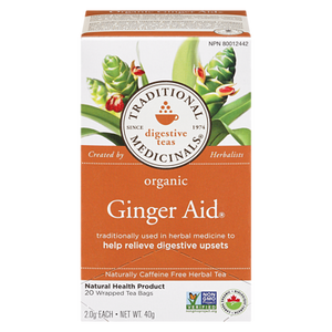 Organic Green Tea with Ginger (20 ea ) - TRADITIONAL MEDICINALS